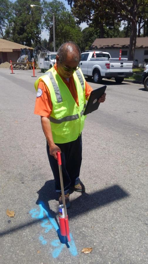 City of Southgate uses Nobel Systems GeoViewer Mobile to mark digalert markings