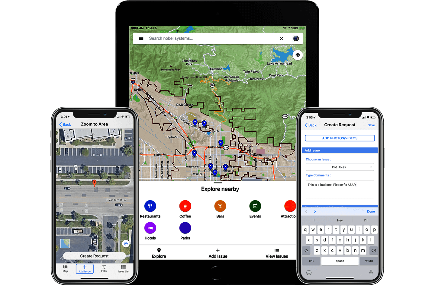 GeoViewer Citizen, GIS based reporting
