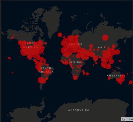 Johns Hopkins University Covid-19 GIS map