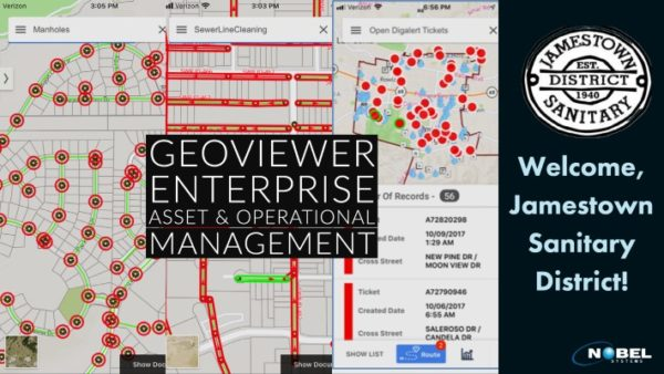Jamestown Sanitary District Selects Nobel Systems for asset and operational asset management software platform